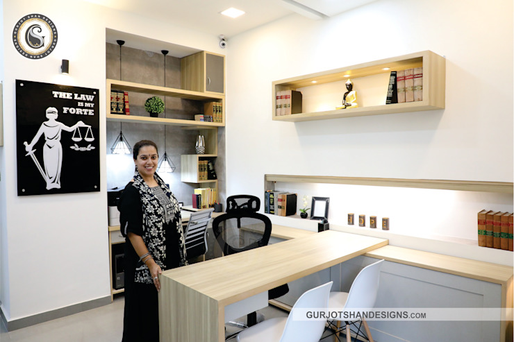 Lawyer's Office Design by Gurjot Shan Designs