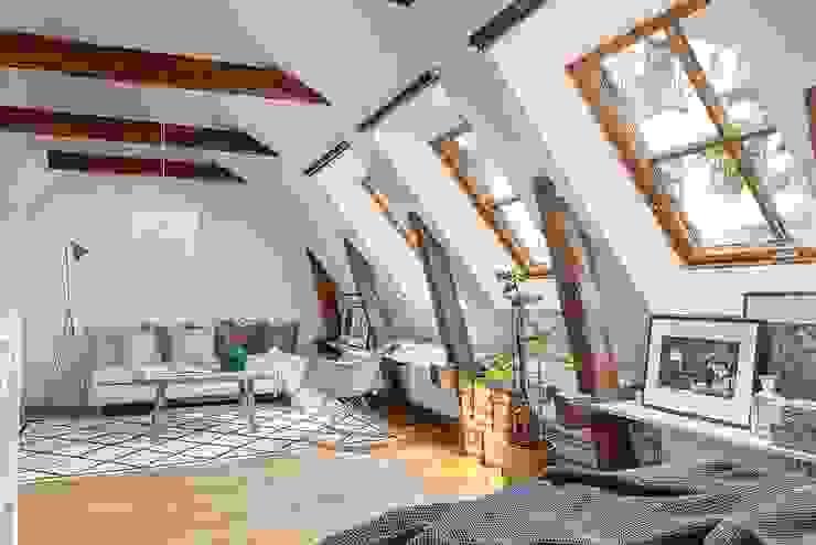 Estar estilo Bohemio o Boho Chic A3 Arq. Aliro Ramos Livings modernos: Ideas, imágenes y decoración Ladrillos Blanco