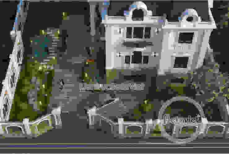 Phối cảnh mẫu lâu đài dinh thự đẹp 3 tầng Tân cổ điển kiến trúc Pháp (CĐT: Ông Sơn - Nghệ An) KT17028 bởi Công Ty CP Kiến Trúc và Xây Dựng Betaviet