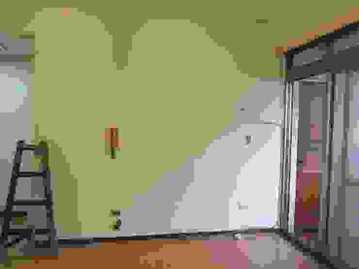 客廳Before: 現代  by 以恩室內裝修設計工程有限公司, 現代風