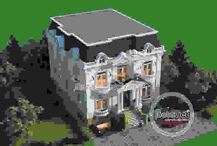Phối cảnh mẫu thiết kế lâu đài dinh thự hoành tráng 3 tầng Tân cổ điển (CĐT: Ông Hưởng - Bắc Ninh) KT17058 bởi Công Ty CP Kiến Trúc và Xây Dựng Betaviet