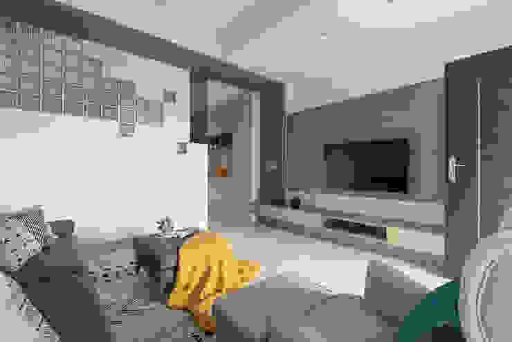 蘭陽鄉旅 现代客厅設計點子、靈感 & 圖片 根據 知域設計 現代風