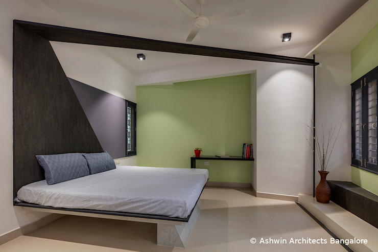 Bedroom Interior Design Modern style bedroom by Ashwin Architects In Bangalore Modern
