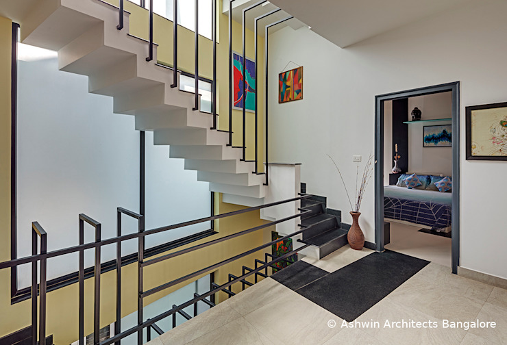 Staircase Design by Ashwin Architects In Bangalore Modern
