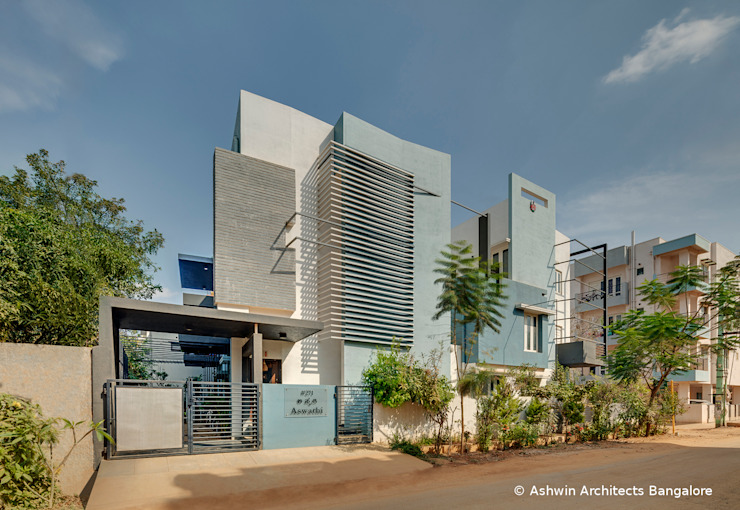 House Side Elevation Design Modern home by Ashwin Architects In Bangalore Modern