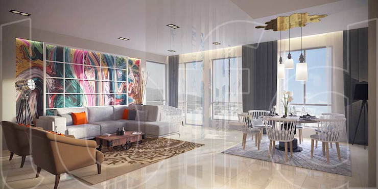 UHA Apartment Modern living room by Language of Design Modern
