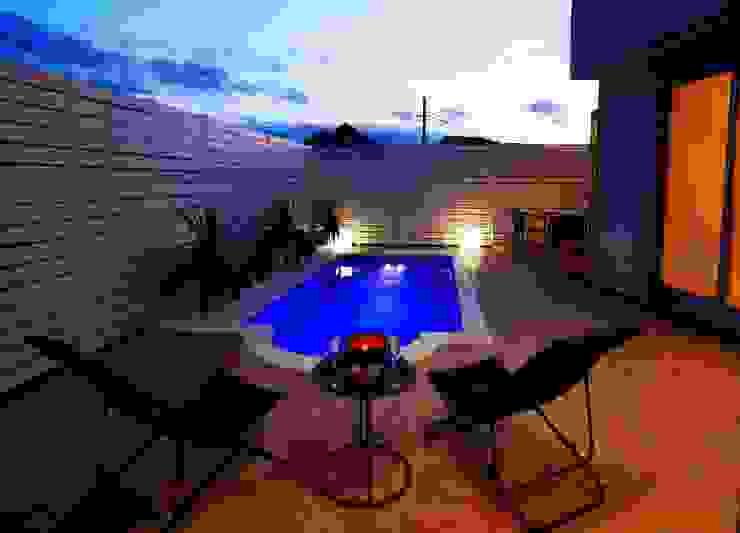 PROSPERDESIGN ARCHITECT OFFICE/プロスパーデザイン Garden Pool Tiles Blue