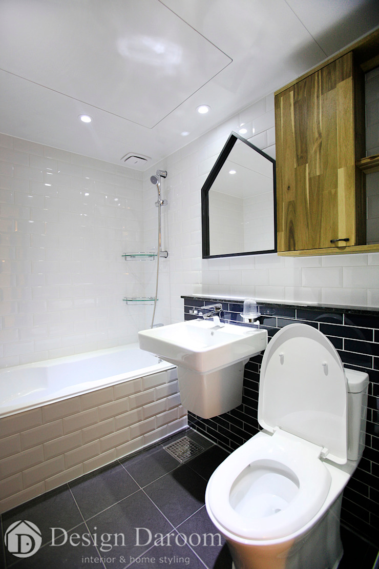 수유 두산위브 아파트 34py 거실욕실 모던스타일 욕실 by Design Daroom 디자인다룸 모던