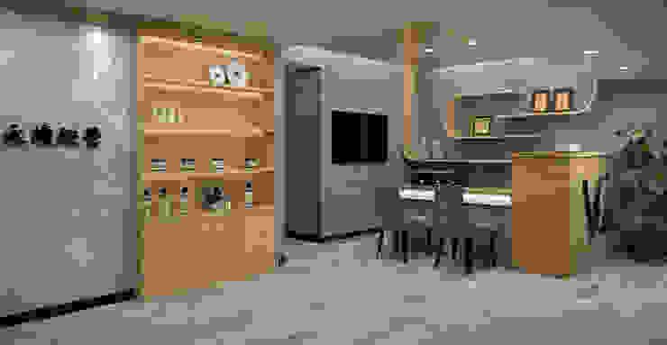 諮詢區 Asian style commercial spaces by 城藝室內裝修企業有限公司 Asian