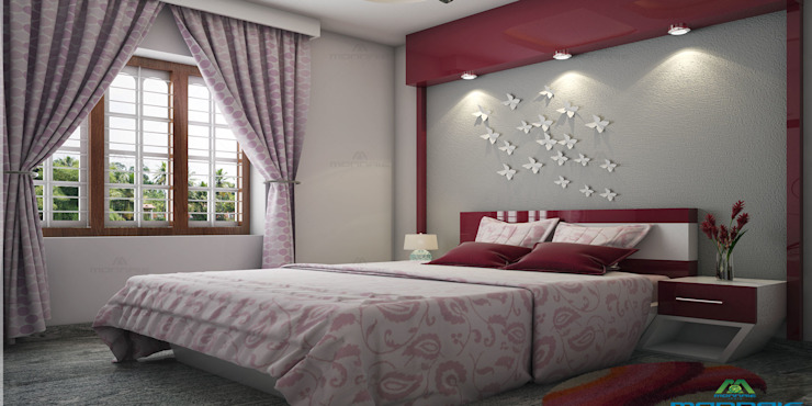 Home Designers in Kerala: asian  by Monnaie Interiors Pvt Ltd,Asian