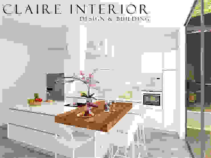 Kitchen Set Modern Minimalist Oleh Claire Interior Design & Building Minimalis Kayu Wood effect