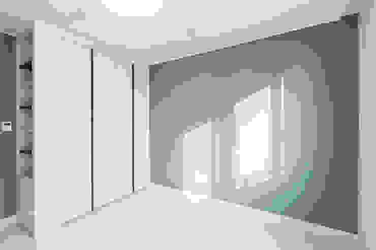 동탄 2 애듀밸리 사랑으로 부영아파트 인테리어 모던스타일 미디어 룸 by N디자인 인테리어 모던
