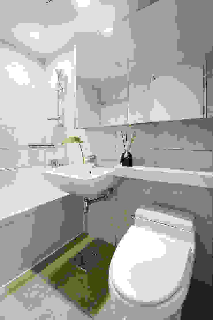 동탄 2 애듀밸리 사랑으로 부영아파트 인테리어 모던스타일 욕실 by N디자인 인테리어 모던