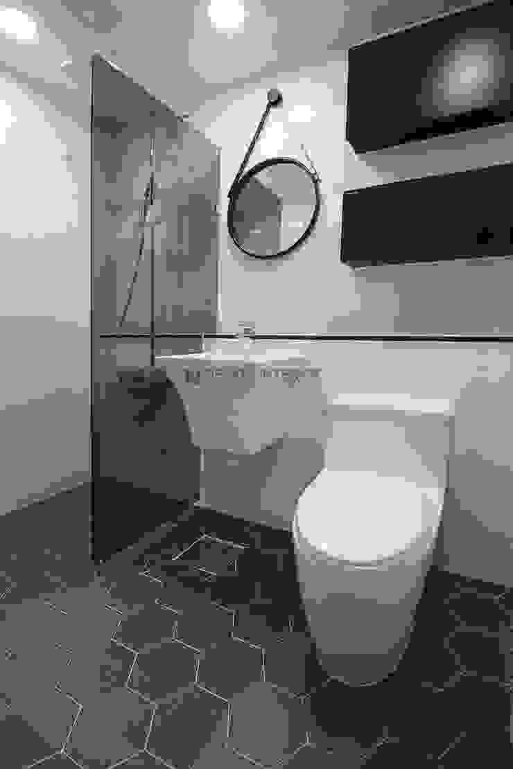 동탄 아파트 인테리어 모던스타일 욕실 by N디자인 인테리어 모던