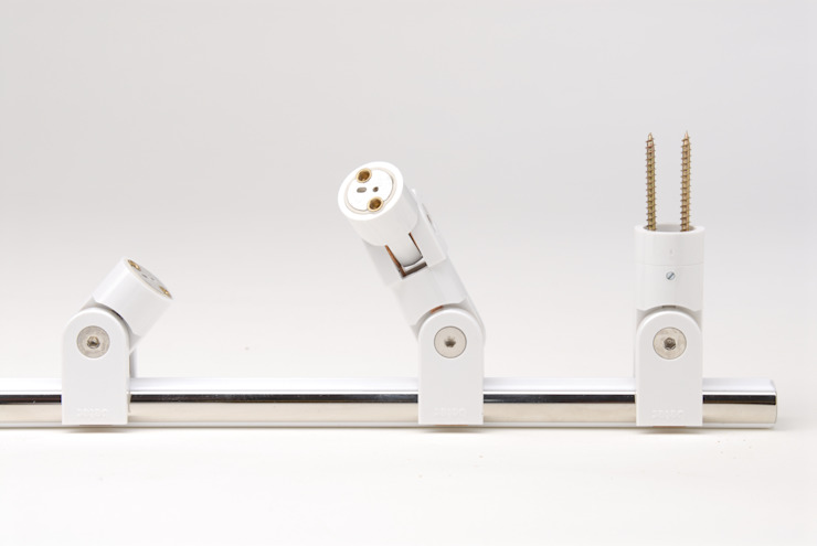 Glaxis betec Licht AG Paredes y suelos de estilo moderno Blanco