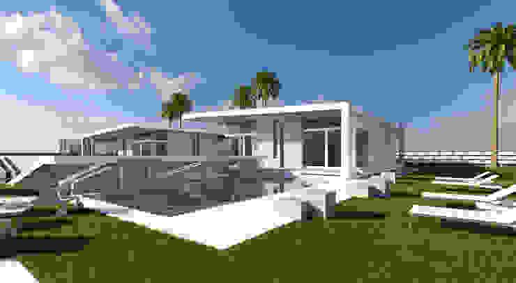 portico su piscina GILLES+ARCH Case moderne