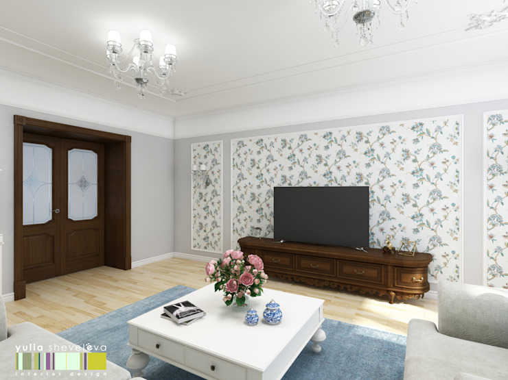 Salon classique par Мастерская интерьера Юлии Шевелевой Classique