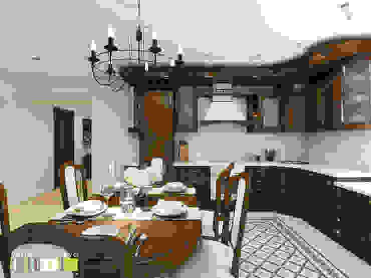Cocinas de estilo clásico de Мастерская интерьера Юлии Шевелевой Clásico