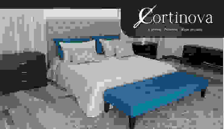 Lencería de Cortinova Cali Moderno Textil Ámbar/Dorado