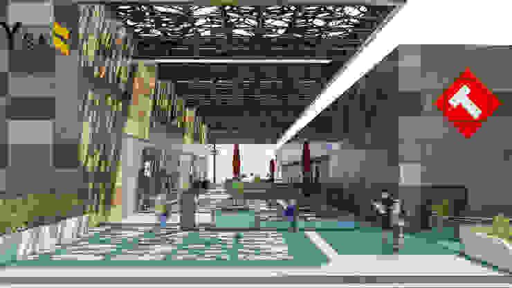 Camara 2 - Vista de patio central Centros comerciales modernos de DUSINSKY S.A. Moderno