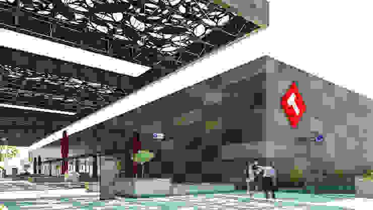 Camara 3 - Bloque de supermercado Centros comerciales modernos de DUSINSKY S.A. Moderno