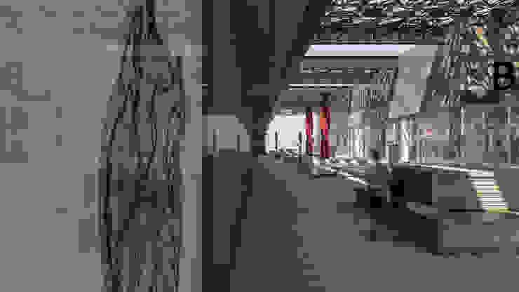 Camara 4 - Patio y reflejo Centros comerciales modernos de DUSINSKY S.A. Moderno