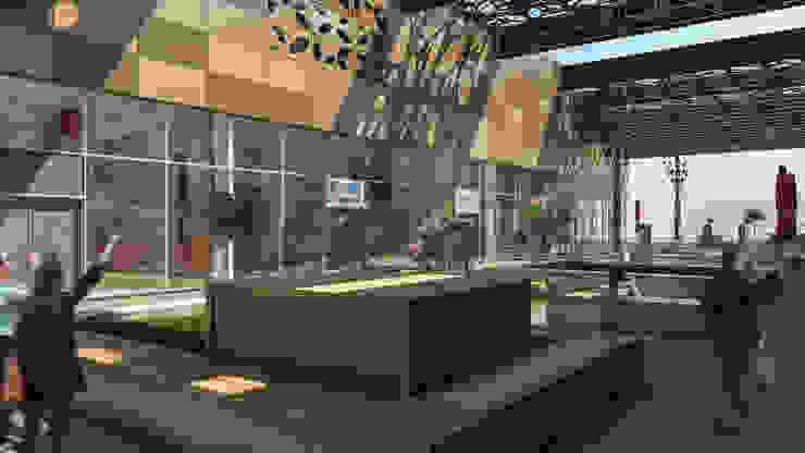 Camara 5 - Vista patio Centros comerciales modernos de DUSINSKY S.A. Moderno