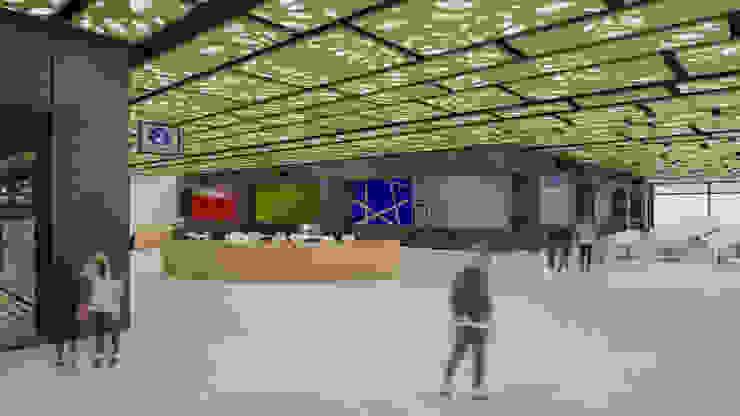 Camara 9 - Interior (Vista general de patio de comidas) Centros comerciales modernos de DUSINSKY S.A. Moderno