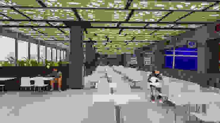 Camara 10 - Interior (Patio de comidas) Centros comerciales modernos de DUSINSKY S.A. Moderno