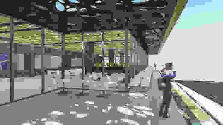 Camara 11 - Interior/Exterior (Terraza patio de comidas) Centros comerciales modernos de DUSINSKY S.A. Moderno