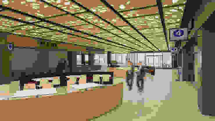 Camara 12 - Interior (Patio de comidas 2 + locales) Centros comerciales modernos de DUSINSKY S.A. Moderno