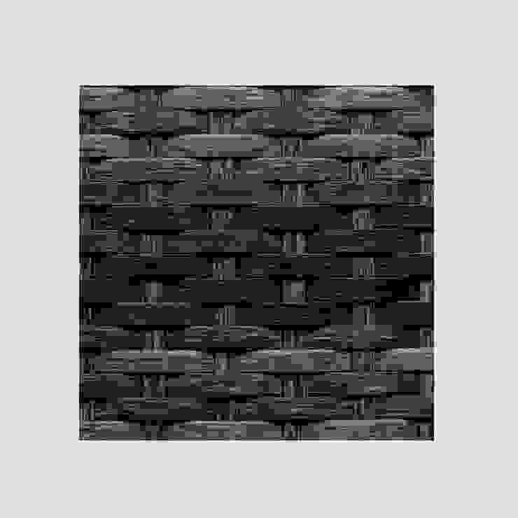 Reposera Rattan sin Brazos Negro Mixto de Afuera Diseño Ecléctico Sintético Marrón