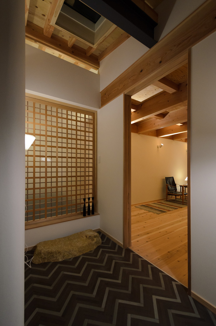 Scandinavian style doors by 風景のある家.LLC Scandinavian Wood Wood effect