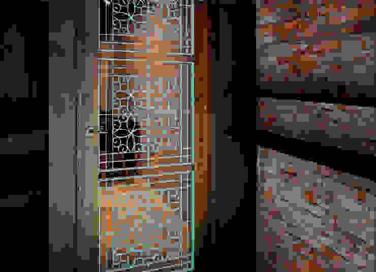 大門細部: 亞洲  by 湜湜空間設計, 日式風、東方風 木頭 Wood effect