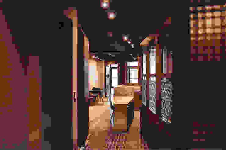 過道 根據 湜湜空間設計 日式風、東方風 木頭 Wood effect