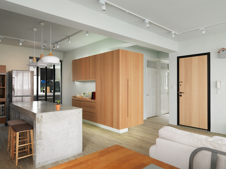 Living / Dining area 根據 湜湜空間設計 隨意取材風