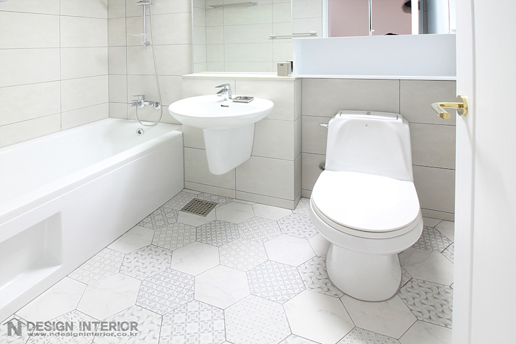 N디자인 인테리어 Modern style bathrooms