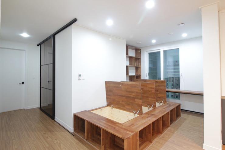 동탄2 예미지 아파트인테리어 스칸디나비아 미디어 룸 by N디자인 인테리어 북유럽