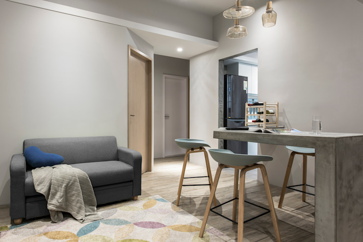 Living area 根據 湜湜空間設計 隨意取材風