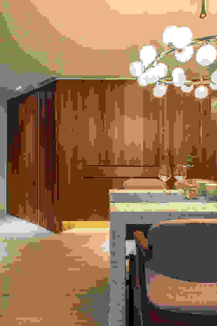 Dining area / storage 根據 湜湜空間設計 隨意取材風 木頭 Wood effect
