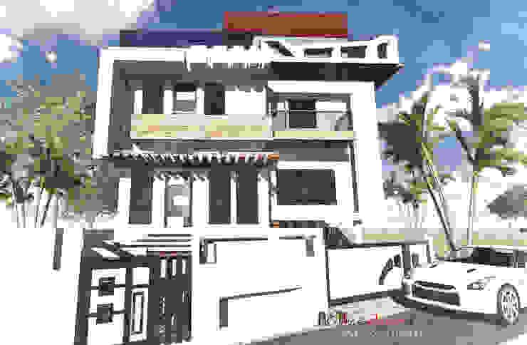 Residential villas Asian style houses by Ellis & Jorim Architects Asian