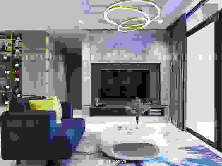 Căn hộ Vinhomes Central Park thiết kế theo phong cách hiện đại dẹp mê mẫn bởi ICON INTERIOR Hiện đại
