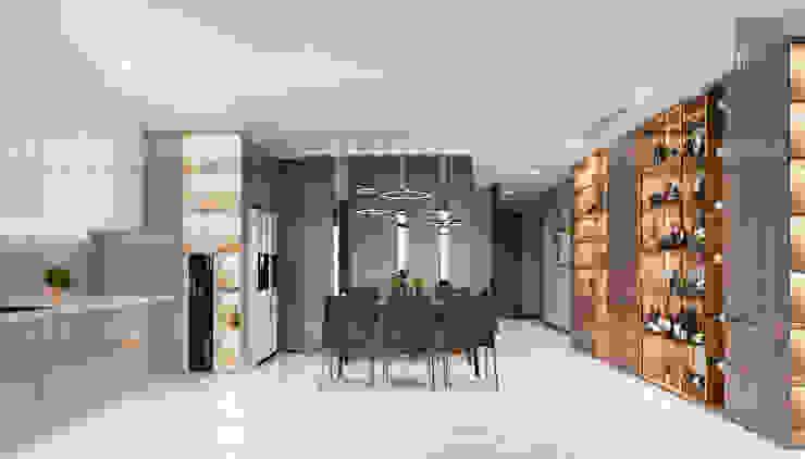 Căn hộ Vinhomes Central Park thiết kế theo phong cách hiện đại dẹp mê mẫn Phòng ăn phong cách hiện đại bởi ICON INTERIOR Hiện đại