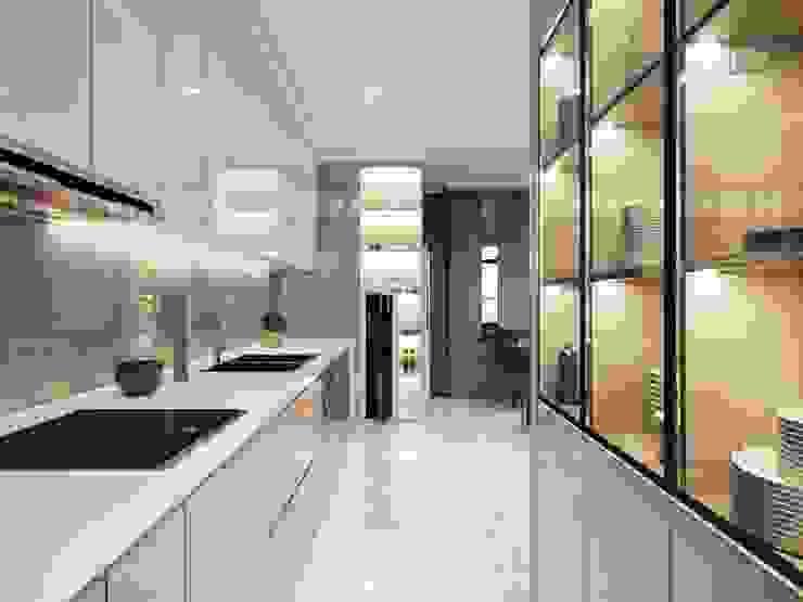 Căn hộ Vinhomes Central Park thiết kế theo phong cách hiện đại dẹp mê mẫn Nhà bếp phong cách hiện đại bởi ICON INTERIOR Hiện đại