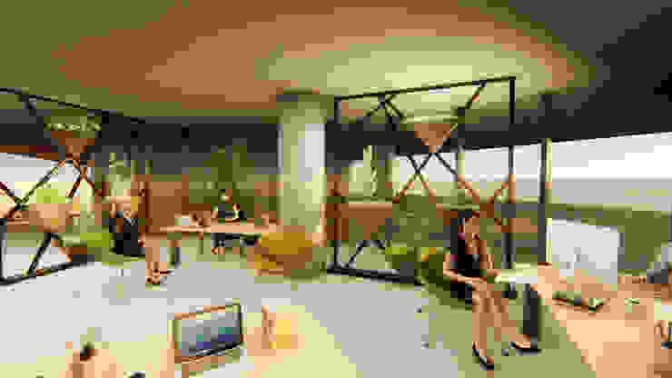 Pil Tasarım Mimarlik + Peyzaj Mimarligi + Ic Mimarlik Tropical style media room