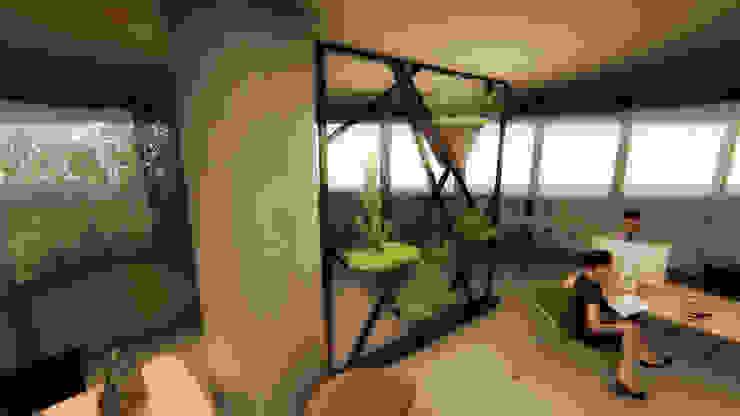 Pil Tasarım Mimarlik + Peyzaj Mimarligi + Ic Mimarlik Tropical style corridor, hallway & stairs