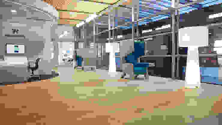 Wood floors at WTC Schiphol Airport Klassieke vliegvelden van Uipkes Wood Flooring Klassiek