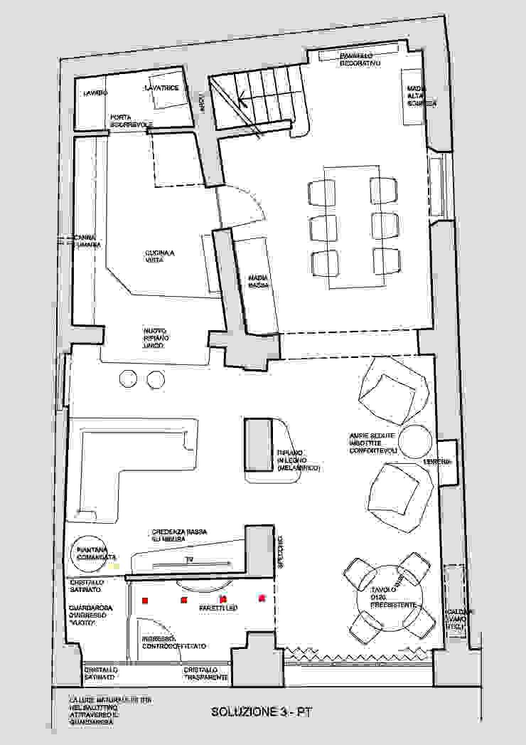 PIANTA DI PROGETTO di Studio Bennardi - Architettura & Design Moderno
