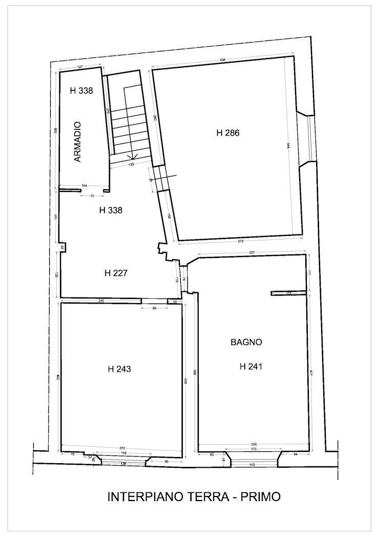 PIANTA ORIGINARIA di Studio Bennardi - Architettura & Design Moderno