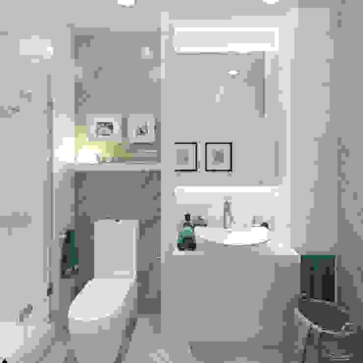 Дизайн-проект двухэтажного загородного дома в Ереване Ванная в классическом стиле от design4y Классический